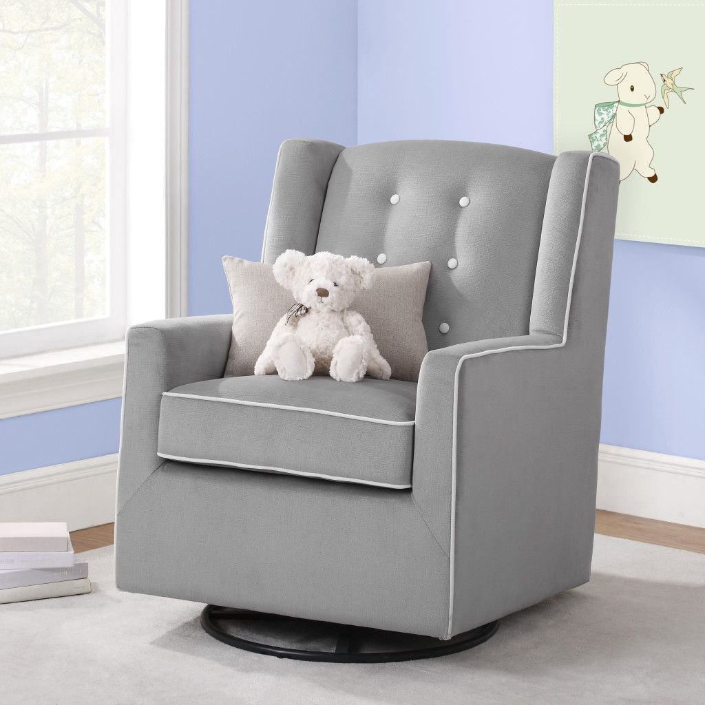 Surprising Baby Relax Emmett Button Tufted Swivel Glider Jeannes Cjindustries Chair Design For Home Cjindustriesco