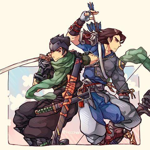 Overwatch young Hanzo and Genji Shimada comic 9999 chance