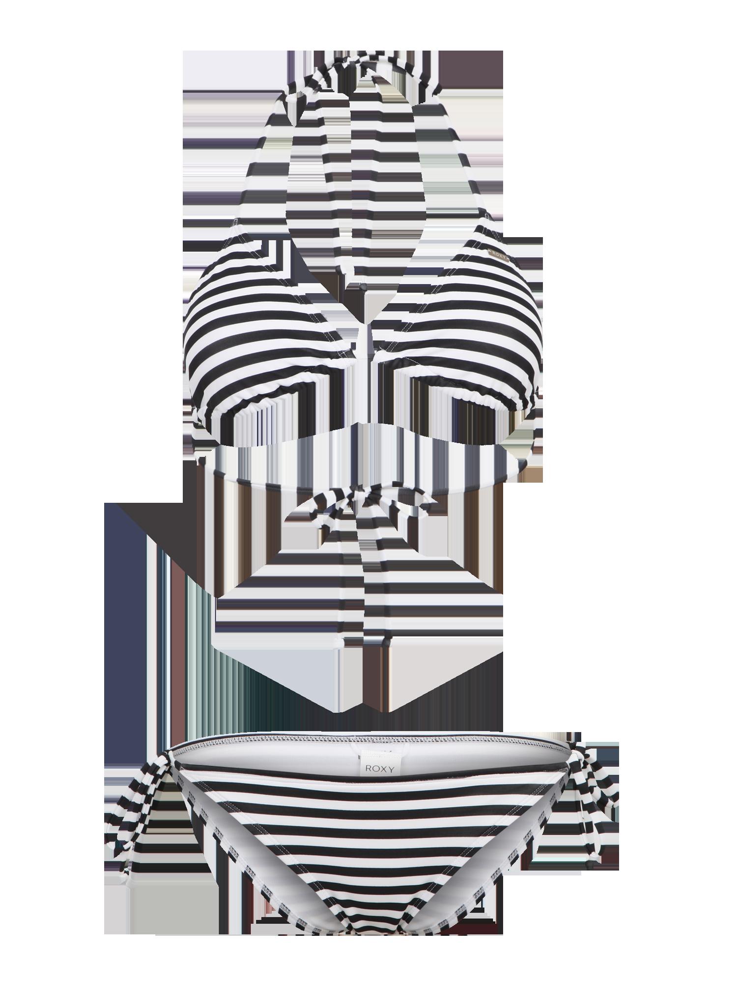 5c6d4e572167a Bikini schwarz weiß gestreift - ´Flow´ - BH-/Bikini-Typ: Triangel; Bügel:  Ohne Bügel; Muster: Gestreift; Schale: Weiche Schalen/ungepolstert; ...