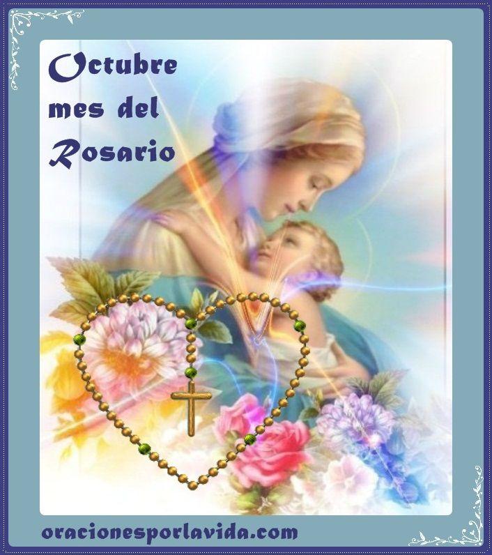 Resultado de imagen para octubre mes del rosario