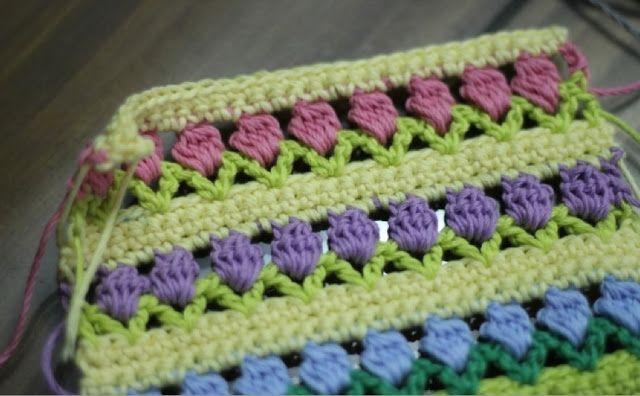 Patrones Crochet: Punto Patron Flores en Linea | 0 Puntos y técnicas ...