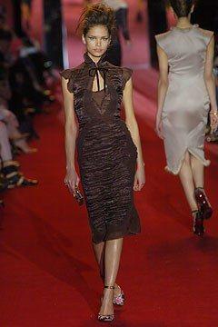 Saint Laurent Fall 2004 Ready-to-Wear Fashion Show - Katja Shchekina