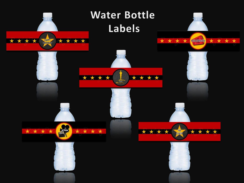INSTANT DOWNLOAD - Printable Water Bottle Labels - Juice ...