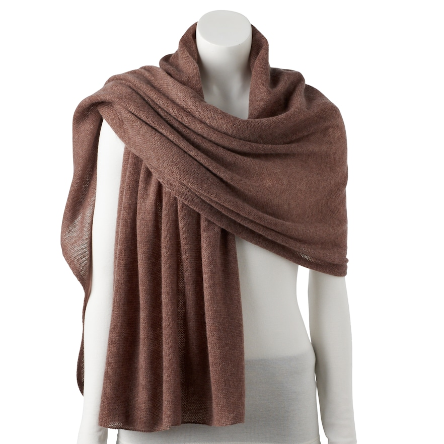 f2c6d6996fe0d Women's Apt. 9 Cashmere Oversized Wrap Scarf, Med Brown | Products ...