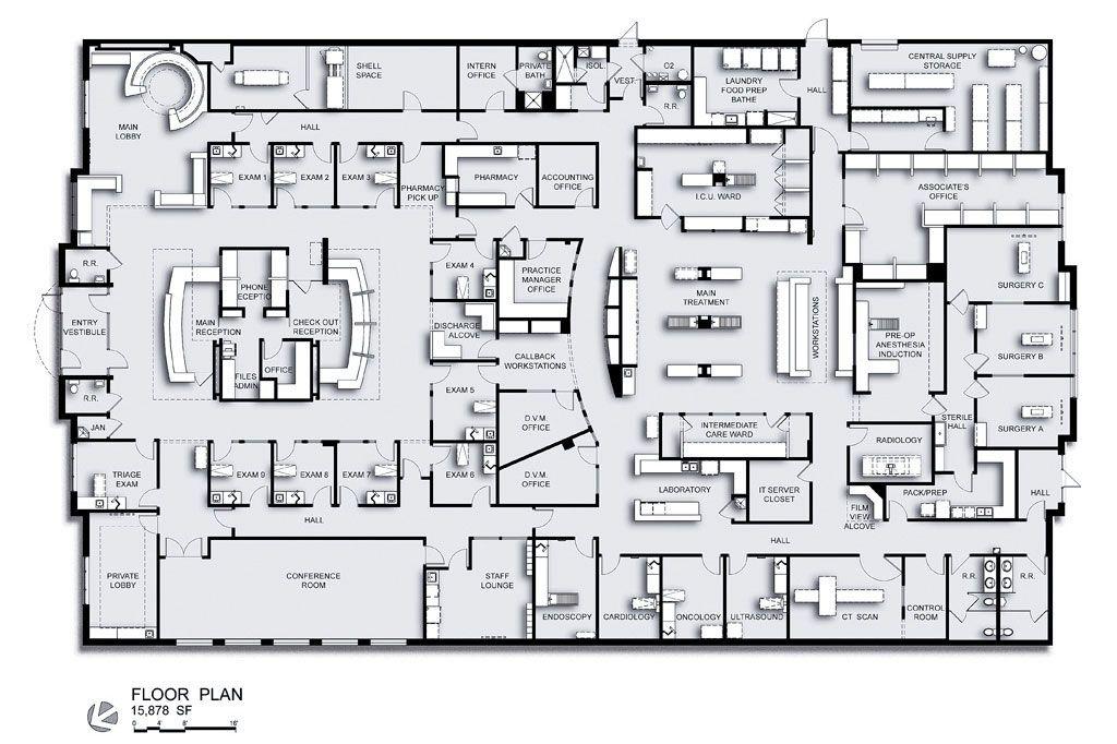 Charleston Veterinary Referral Center In Charleston S C Floor Plans Veterinary Hospital
