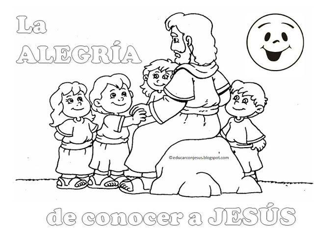 Las Misiones Y Los Niños Dibujos Para Colorear De Niños: Resultado De Imagen Para Jesus Y Los Niños Para Colorear