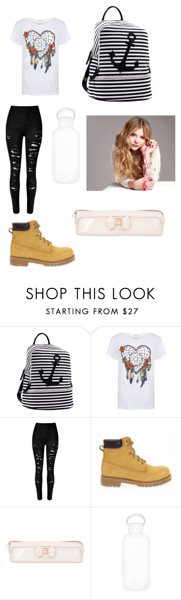 """""""Untitled #367"""" by princessvreni ❤ liked on Polyvore featuring Dasein, Denim & Supply by Ralph Lauren, Docksteps, Ted Baker and bkr"""