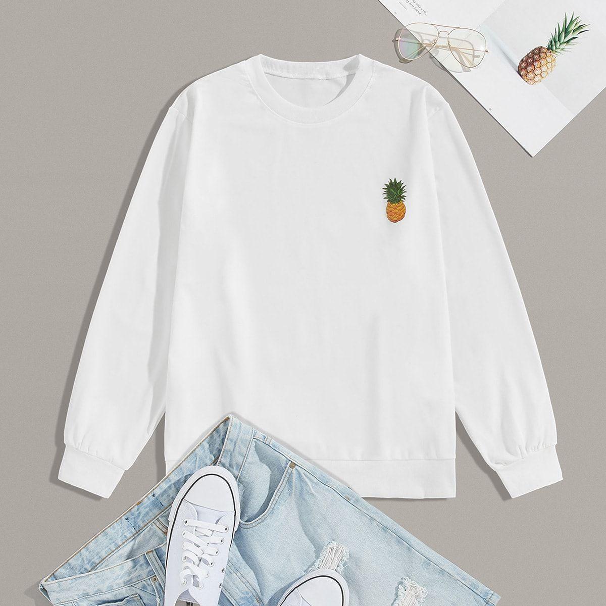 Men Pineapple Print Long Sleeve Sweatshirt Sweatshirts Long Sleeve Sweatshirts Long Sleeve [ 1200 x 1200 Pixel ]