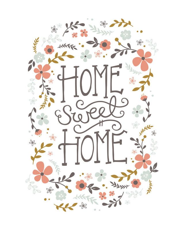 Home Sweet Home Wall Art home sweet home limited edition art printkristen smith