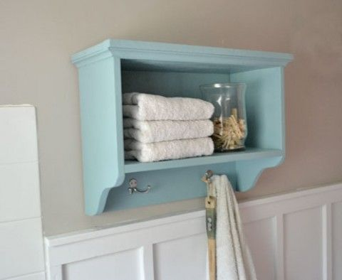 Martina Bath Wall Storage Shelf With Hooks Wall Storage