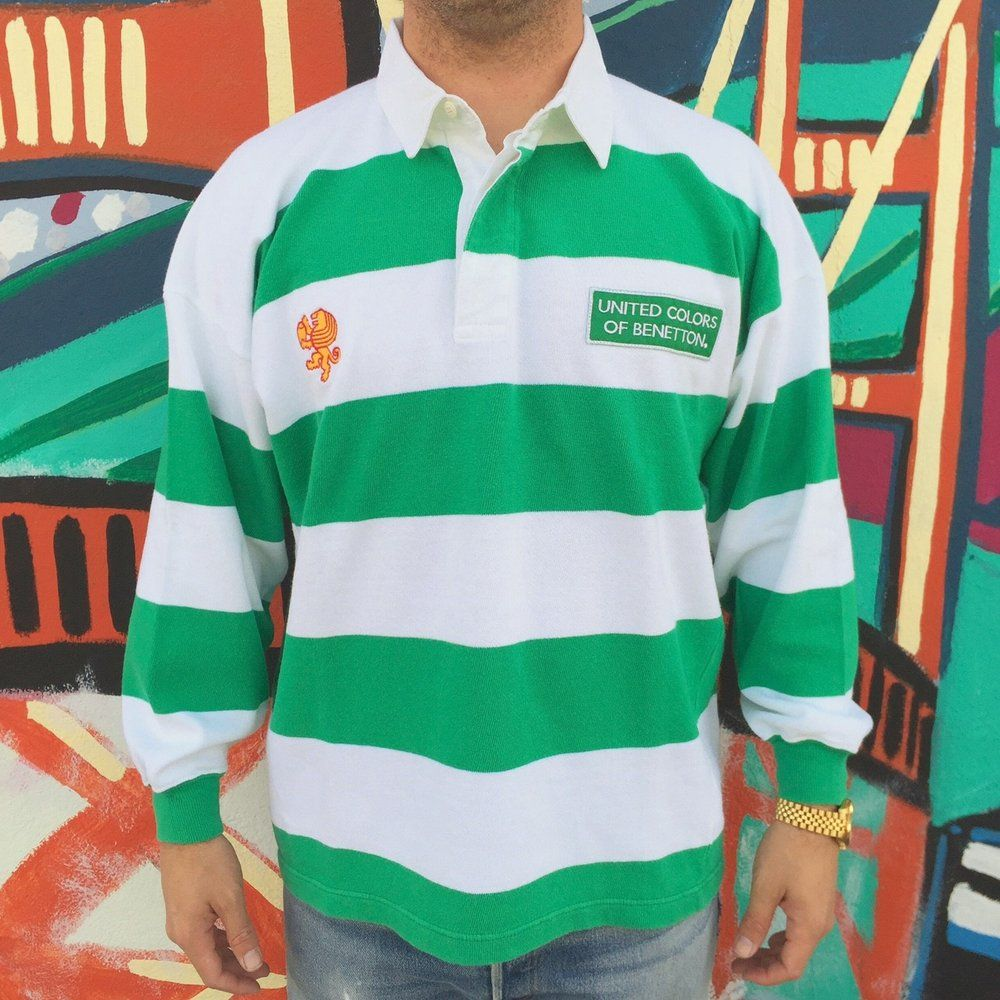 bfa6e49ed3d benetton rugby shirts | Vintage United Colors of Benetton Striped Rugby  Shirt Sz.L ..