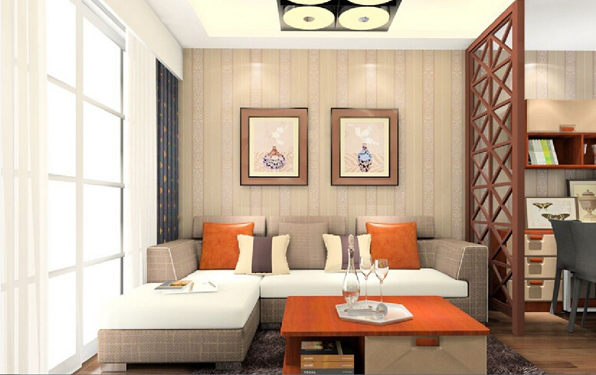 Partition designs between drawing and dining ceiling for Drawing hall wall designs