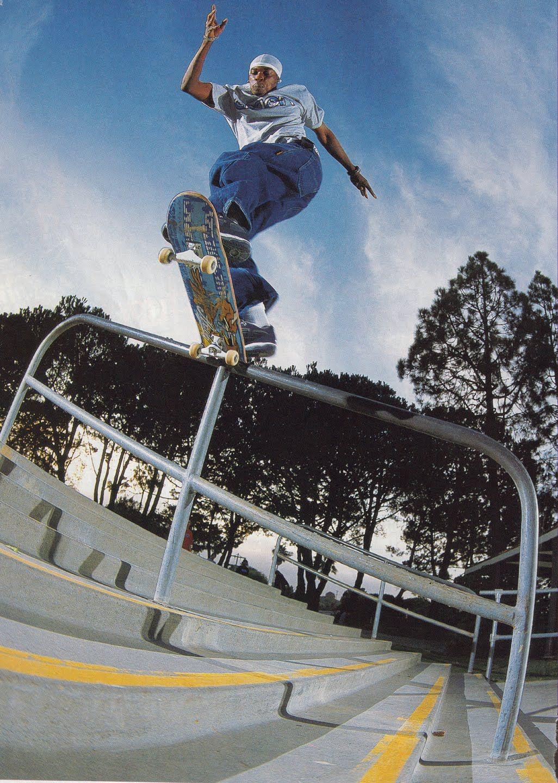 Kareem Campbell Backside Tailslide Bada Skateboarding Kareem