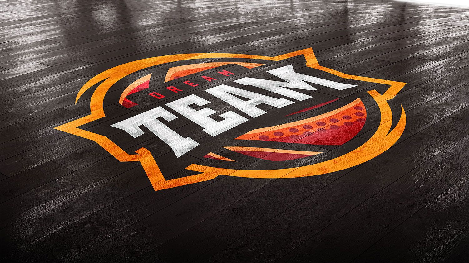 Basketball Court Photoshop Template Mockup | Floor Graphics ...