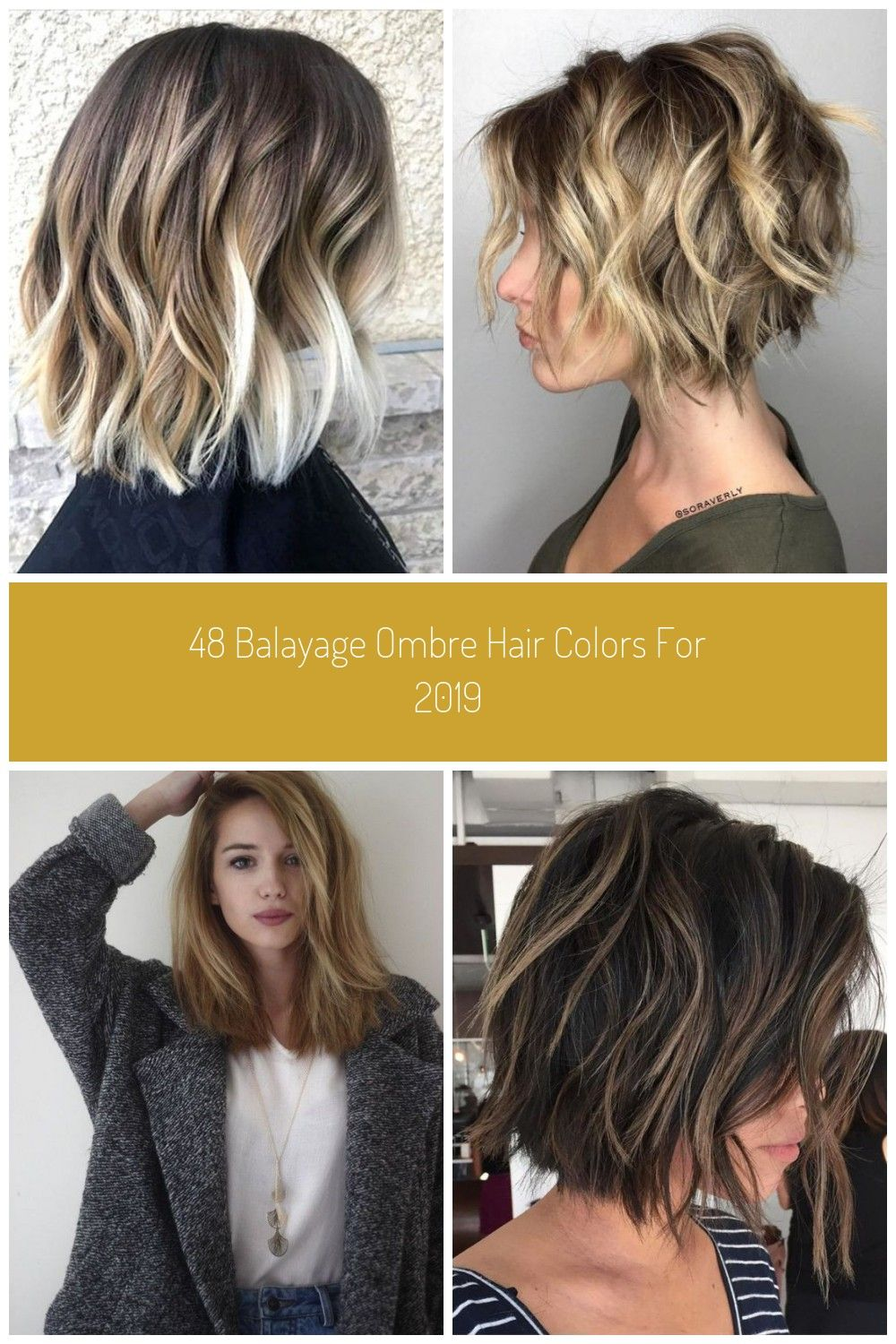 Beach Waves Short Hair #bob corto balayage 48 Balayage Ombre Hair Colors  For 2019 Koees Blog in 2020 | Ombre hair color, How to curl short hair,  Ombre hair