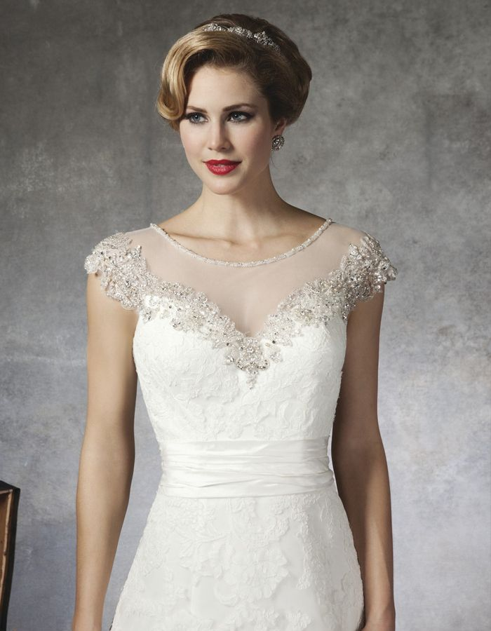 Illusion Neckline Wedding Gowns