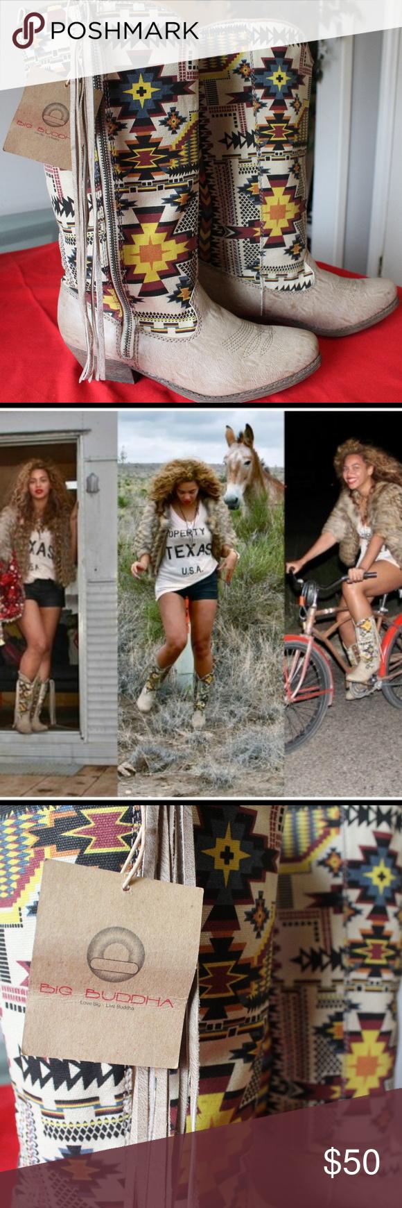8e1d4cbb88b NWT BIG BUDDHA Aztec Cowboy Boots As worn by Beyonce. BIG BUDDHA ...