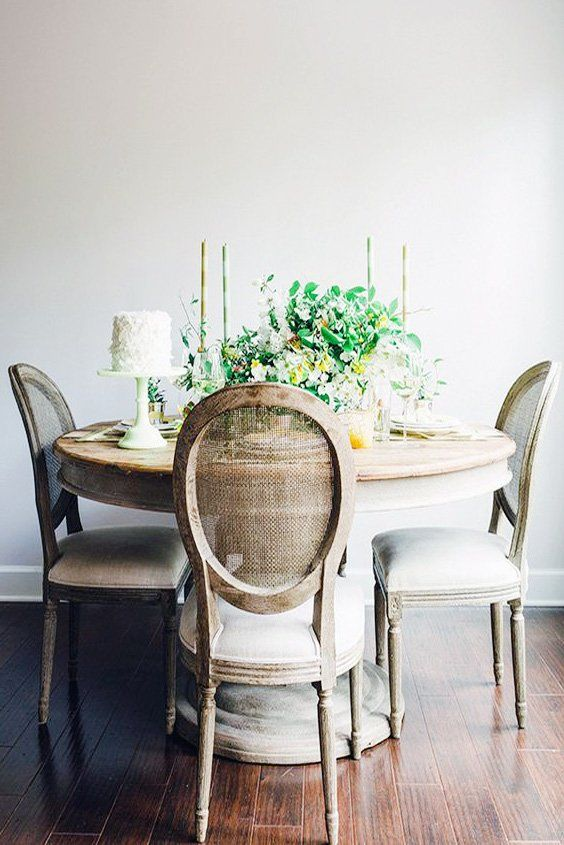 Rustic Round Dining Table And Rustic Wooden Chair Ideas Round