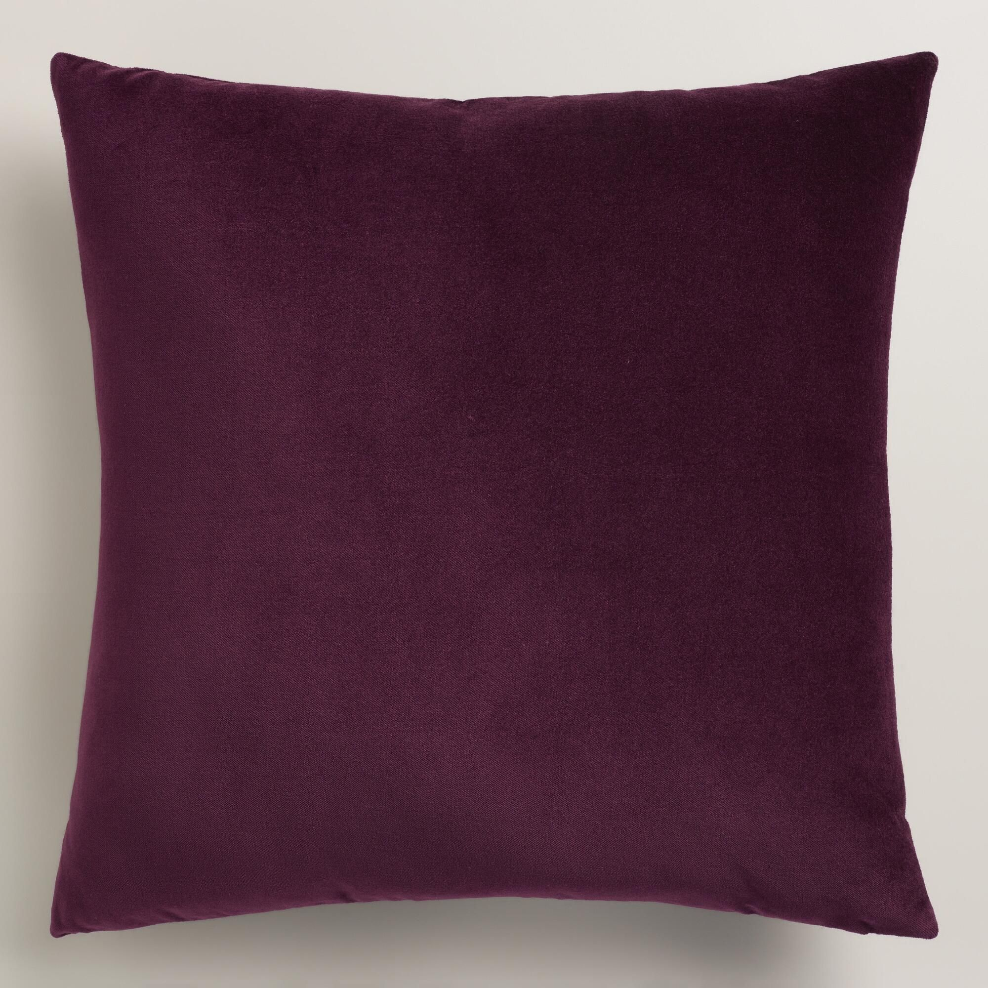 Wine Tasting Purple Velvet Throw Pillow | World Market | E 19th St ...