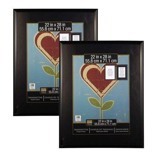 2 pack studio decor trendsetter poster frame black 22 - Michaels Frames 24x36