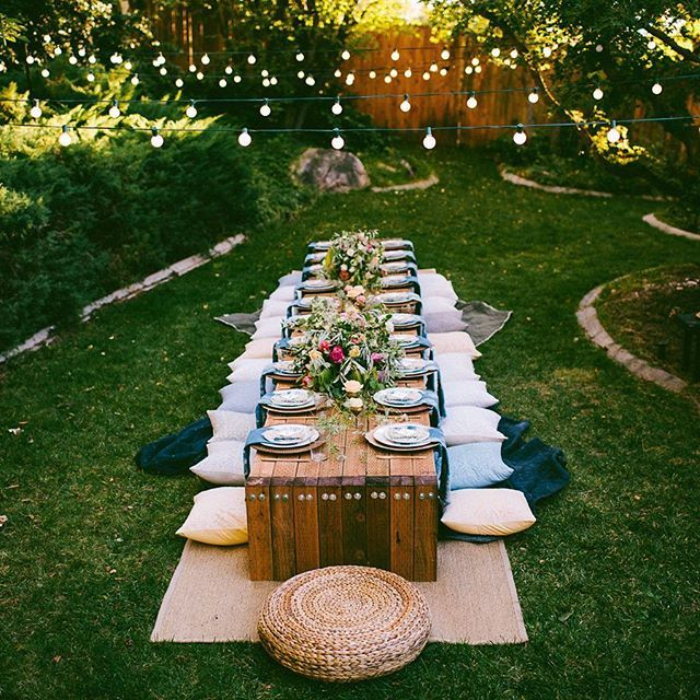 10 Tips To Throw A Boho Chic Outdoor Dinner Party Or Intimate Wedding