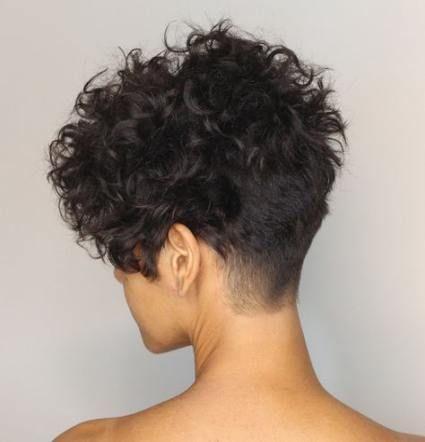 65 Ideas hair curly short messy curls pixie cuts #curlshorthair