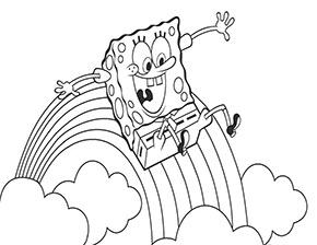 Ausmalbild Regenbogen Mit Spongebob Malvorlagen Tiere Ausmalen Spongebob