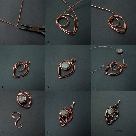 Tutorial steampunk wire wrapping and tutorials picture wire jewelry tutorial pendant with beads or could be used for earrings aloadofball Gallery