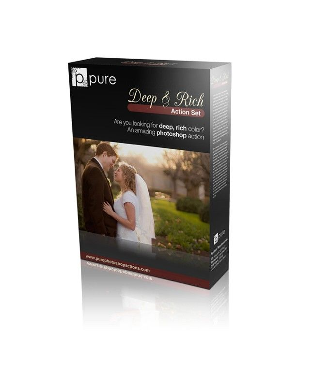 """$20.00 """"Deep and Rich"""" Action Pure Photoshop Actions"""