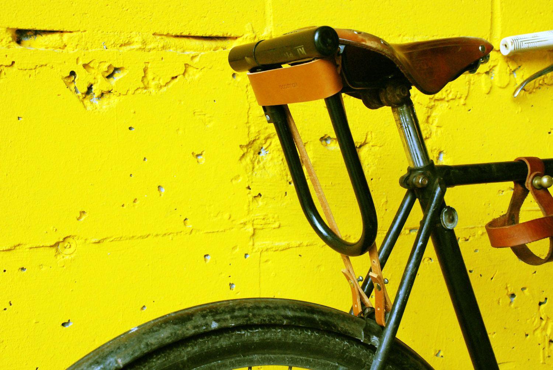Bicicletta U Lock Fondina Pelle Accessori Moto Andare In Bici