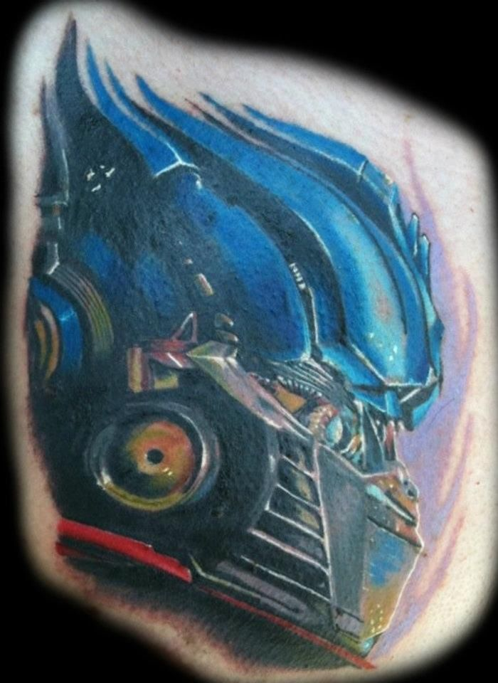 Transformers tattoo i made about two years ago | Tattoos ...