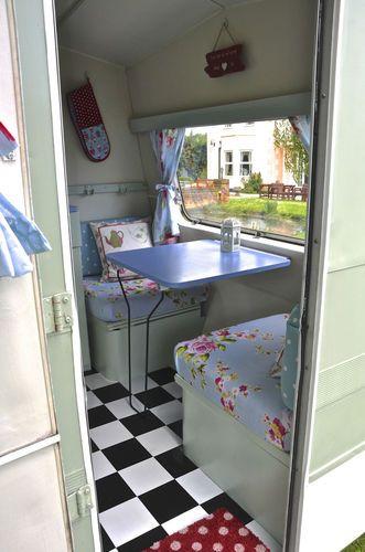 Vintage Classic 1960 70 S Sprite Caravan Fully Restored Shabby Chic With Awning Ebay Vintage Caravan Interiors Camper Interior Vintage Caravans