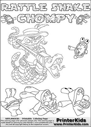 skylanders chompy coloring pages - photo#2