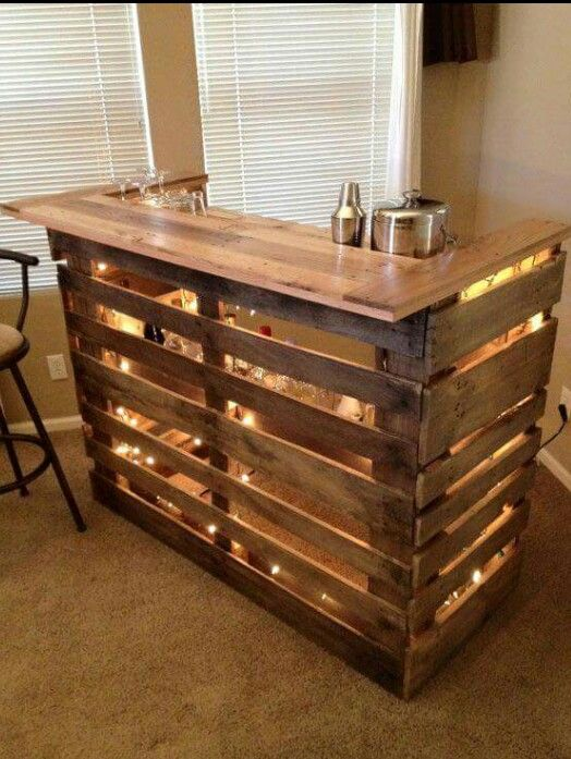 Mini Bar Made From Pallets Pallet Bar Diy Decorating Your Home