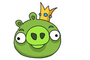 How To Draw Angry Birds Pig King Pig Angry Birds Pigs Painted Rocks Kids Children Sketch