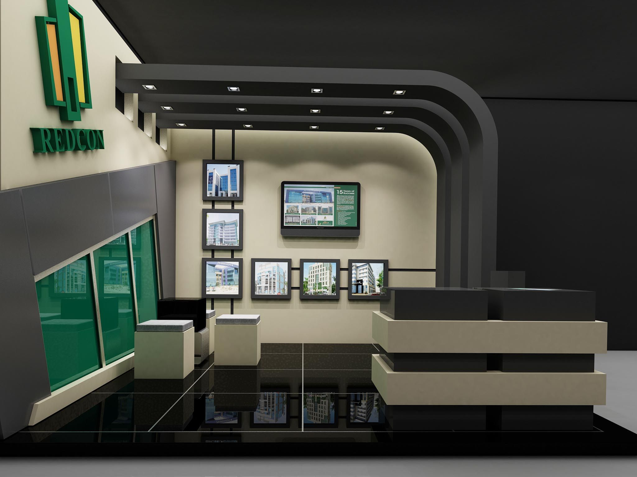 Redcon booth Design By Remal Architects  Architect. Adnan Elmaleh