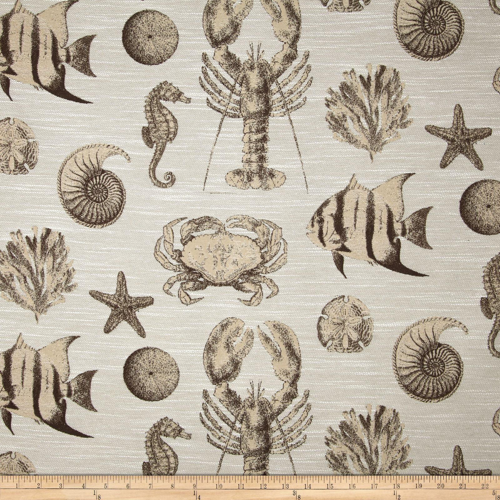 Swavelle/Mill Creek Seafaring Jacquard Sand Fabric