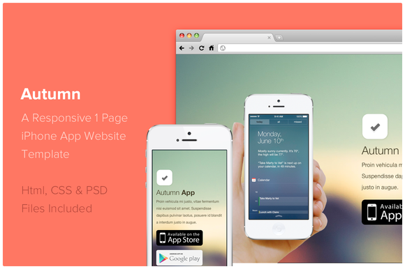 Check out Autumn - iPhone App Website Template by Jamie Peak on ...