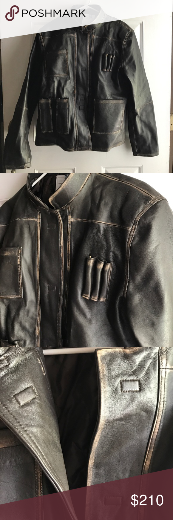 Han Solo Leather Jacket L Nwt Leather Jacket Jackets Han Solo Costume [ 1740 x 580 Pixel ]