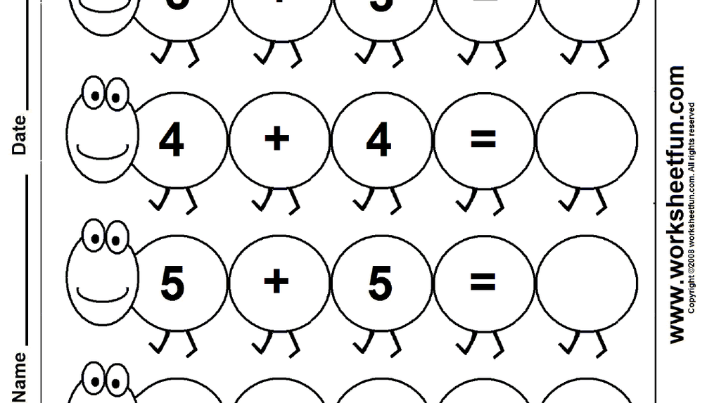 Addition - Doubles - Worksheet | Doubles worksheet, Free ...