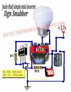 Ac Led Circuit Diagram | Skema Joule Thief 3 7v To 220v Ac Led Light Jt Pinterest Joule