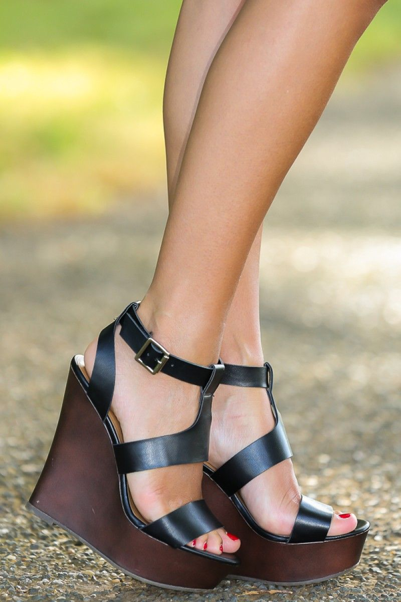 3c3de257d10 Love these!! Step Above The Rest Wedge-Black - New Arrivals