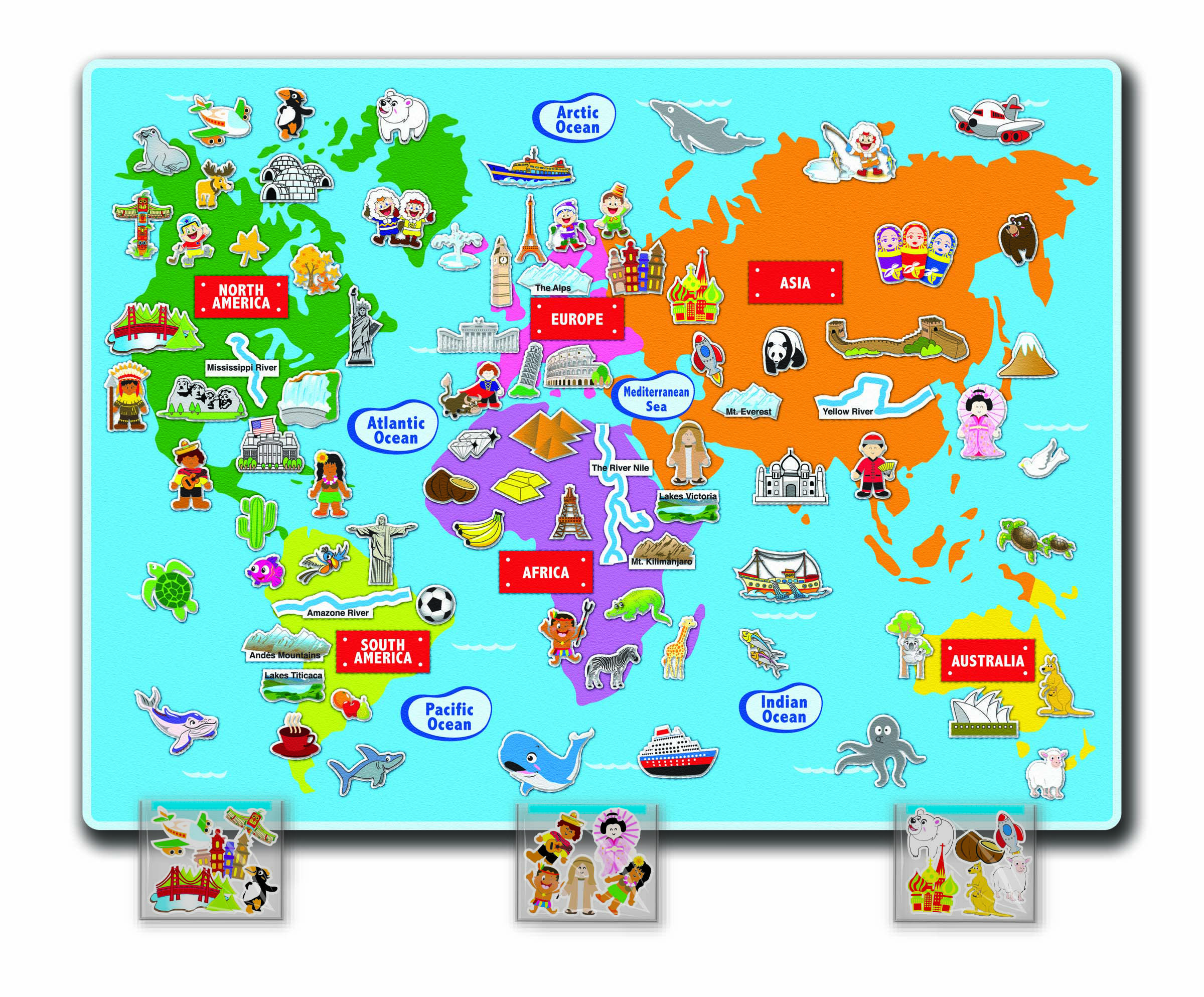 Felt creations felt world map a fun educational toy to assist felt creations felt world map a fun educational toy to assist children in understanding gumiabroncs Images