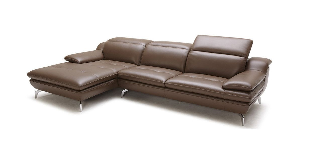Divani Casa Gerbera Modern Caramel Leather Sectional Sofa