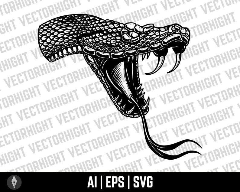 Snake Clipart Vector Cobra Vector Viper Eps Ai Svg Snake Etsy In 2021 Vector Clip Art Snake