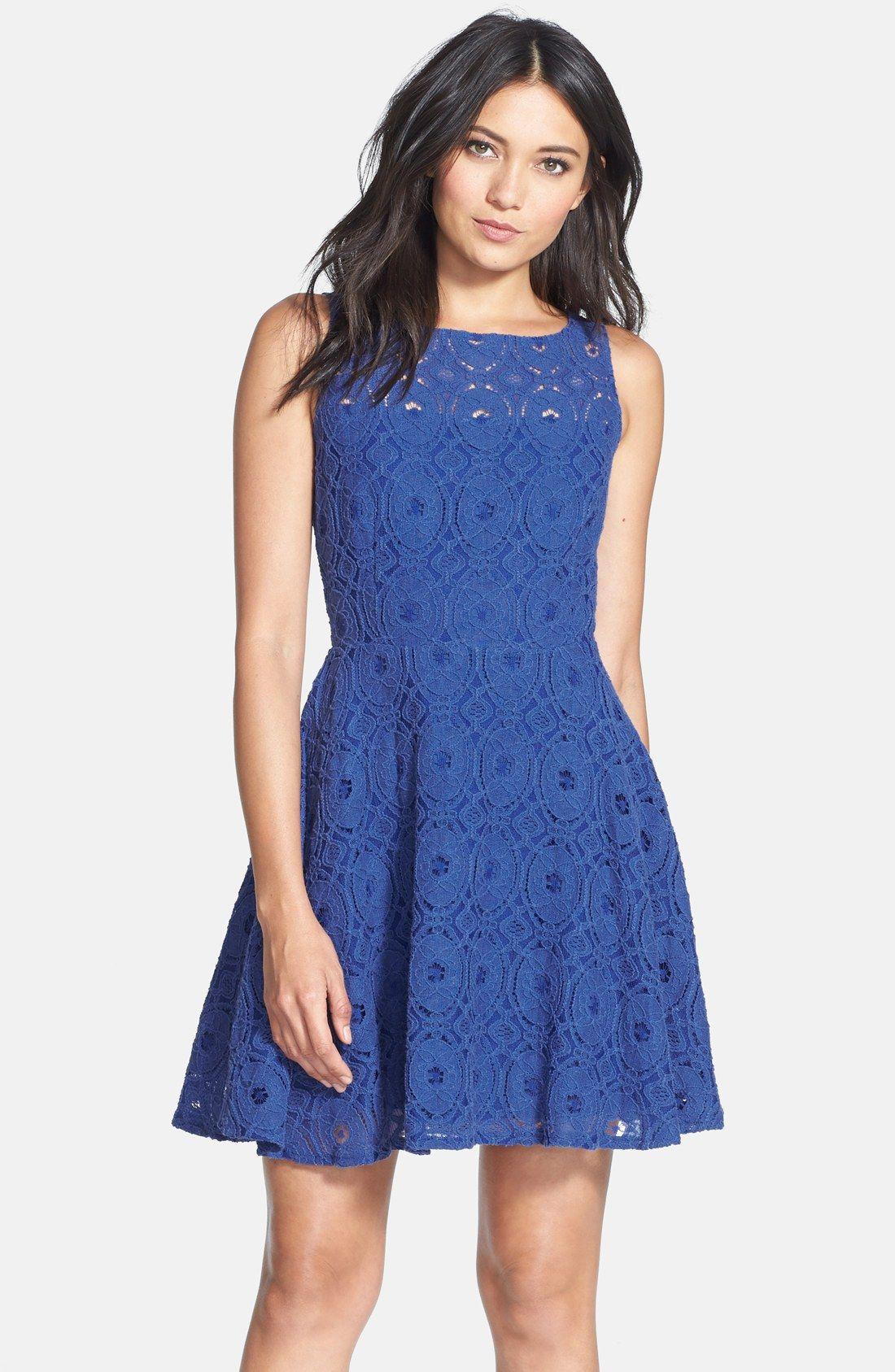 BB Dakota \'Renley\' Lace Fit & Flare Dress (Nordstrom Exclusive ...