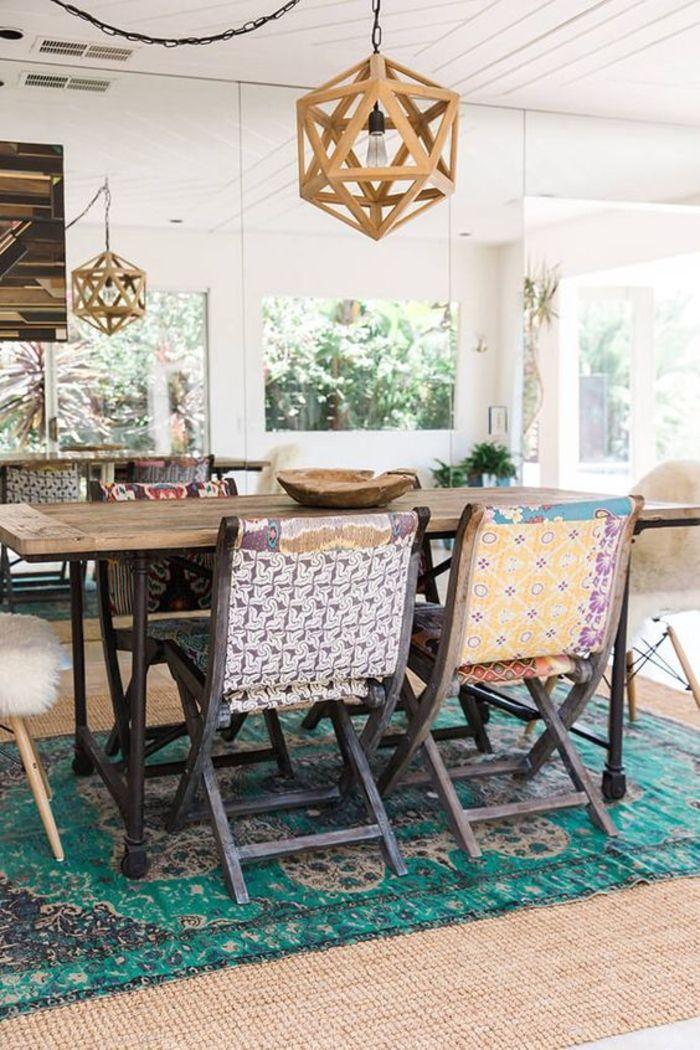 1001 idées déco pour adopter le style chic ethnique dans son intérieur une salle à manger