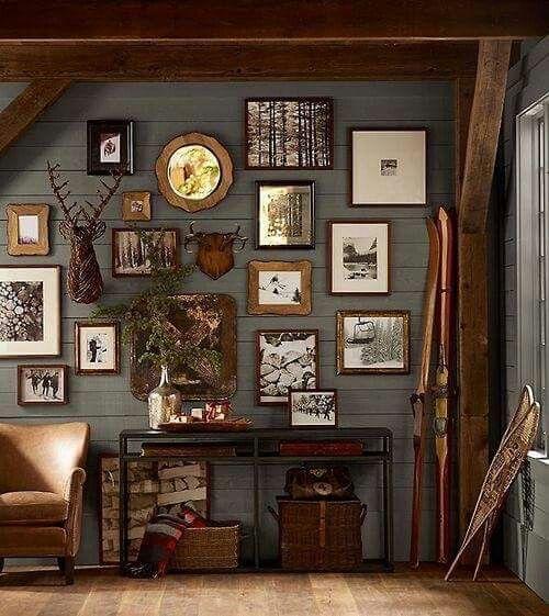 Wall Color For Cabin Blue Red Tans Browns Cabin Decor Lodge Decor Cabin Style