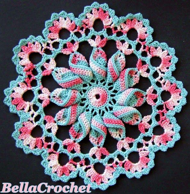Pinwheel Doily - Tapete patrón gratis en inglés | Carpetas Tejidas ...