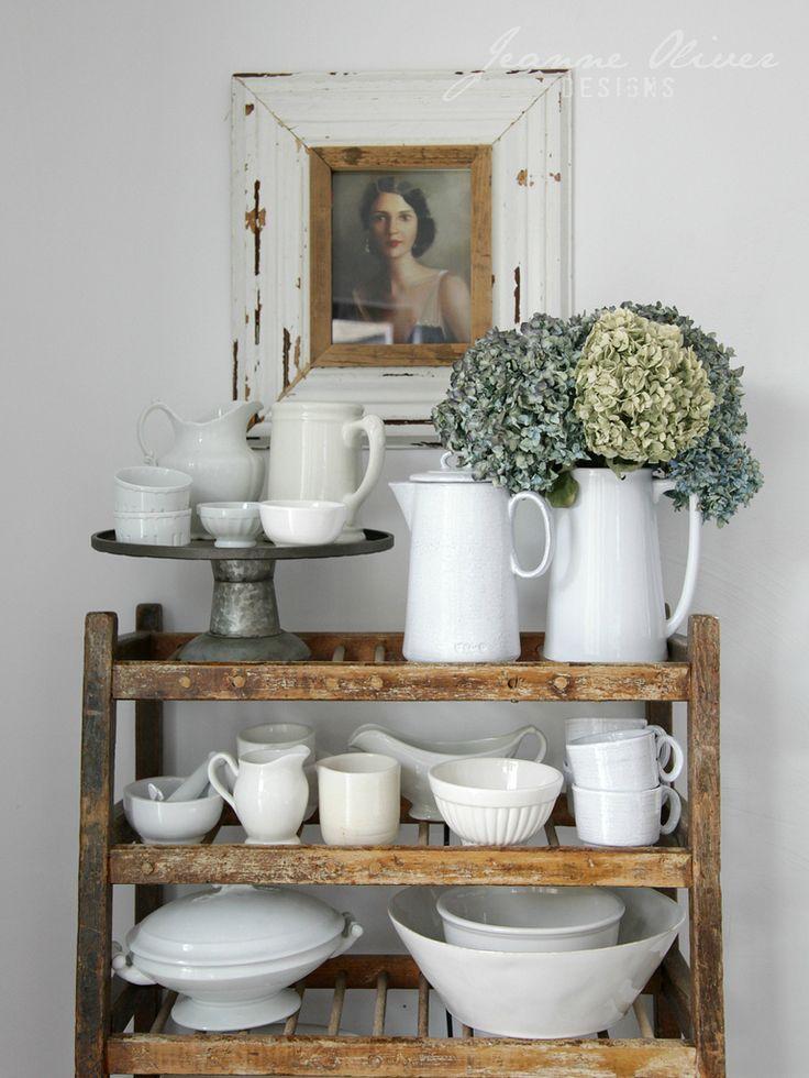 Shelf of ironstone